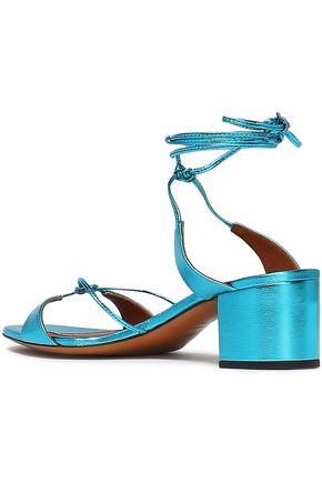 MISSONI Knotted metallic leather sandals