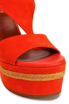 MISSONI Suede platform wedge sandals