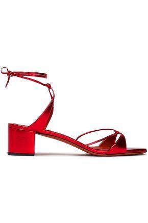 MISSONI | Missoni Knotted Metallic Leather Sandals | Goxip