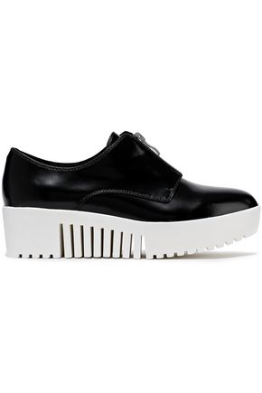 OPENING CEREMONY Glossed-leather platform sneakers