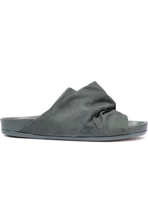 RICK OWENS Mobius Granola brushed-leather slides