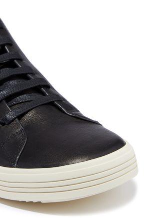 RICK OWENS Mastodon brushed-leather sneakers