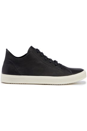 RICK OWENS Mastodon brushed-leather sneakers