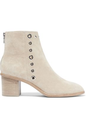 RAG & BONE Willow eyelet-embellished suede ankle boots