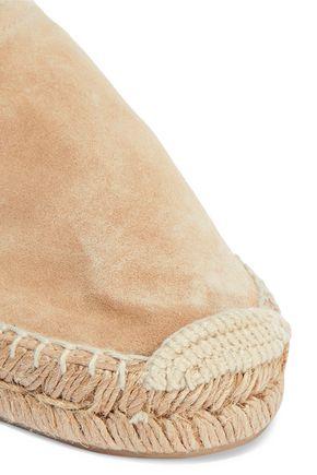 RAG & BONE Delos leather-trimmed suede espadrilles