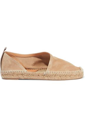 RAG & BONE Delos leather-trimmed suede espadrilles