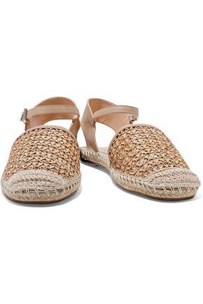 SCHUTZ Woven leather espadrille sandals