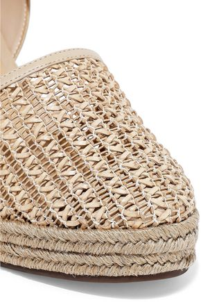 SCHUTZ Claudina woven leather wedge espadrilles
