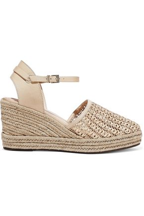SCHUTZ Claudina woven leather wedge espadrilles sandals