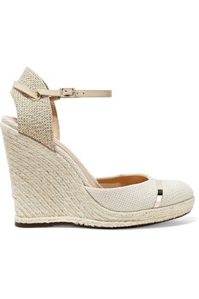 SCHUTZ Lova woven canvas wedge espadrilles
