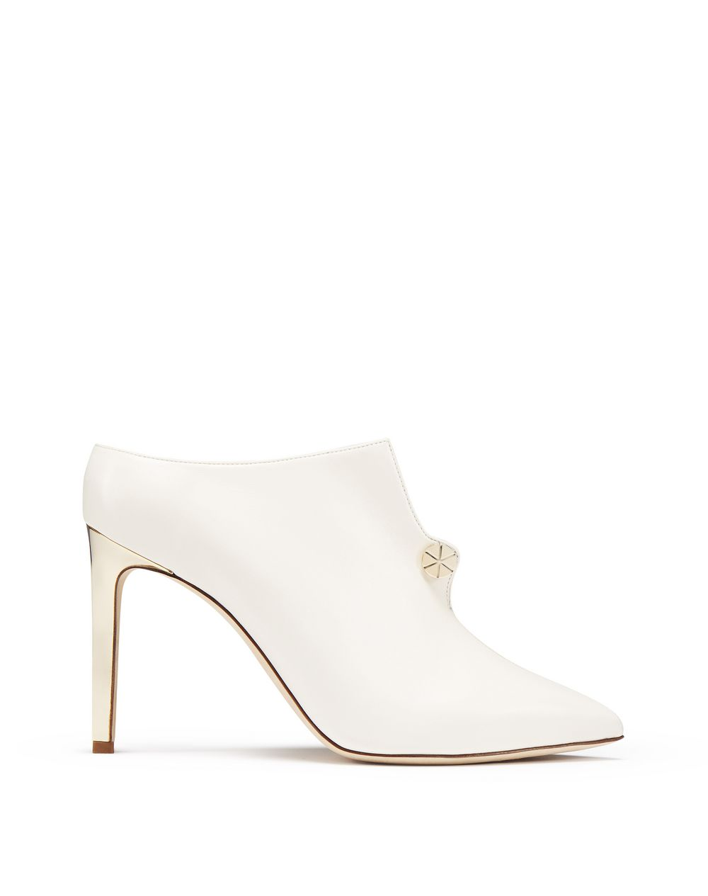 IVORY PIERCING HIGH-HEELED MULE - Lanvin