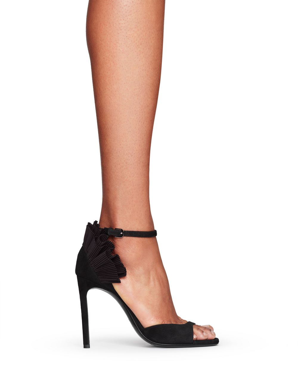 HIGH-HEELED RUFFLE SANDAL - Lanvin