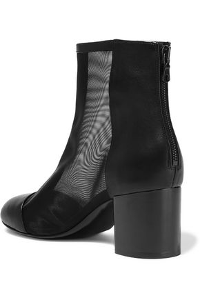 RAG & BONE Drea mesh-paneled leather ankle boots