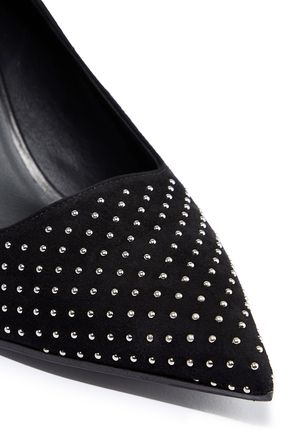 BALMAIN Studded suede pumps