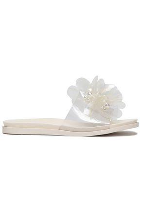 SIMONE ROCHA Floral-appliquéd PVC slides