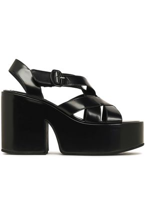 SIMONE ROCHA Glossed-leather platform sandals