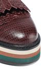 ZIMMERMANN Snake-effect leather platform brogues