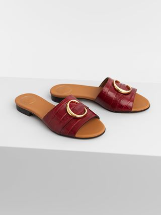 Chloé C flat mule sandal