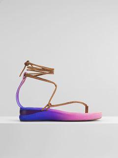 Flache Wave Sandale