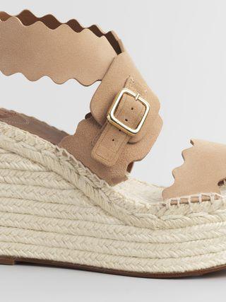 Lauren espadrille wedge sandal