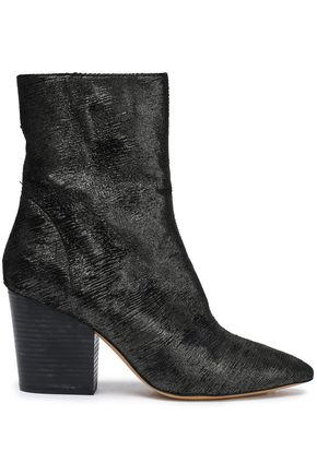 IRO Ladilor sliced metallic suede ankle boots