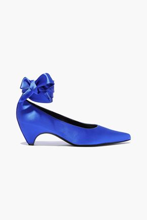 STELLA McCARTNEY Hemy bow-detailed satin pumps