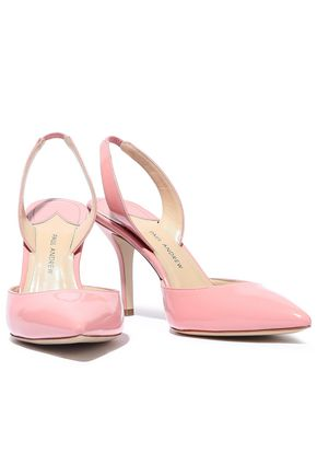 PAUL ANDREW Patent-leather slingback pumps