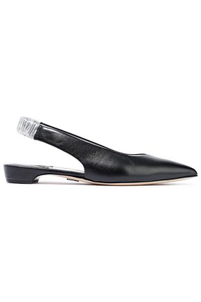 PAUL ANDREW Carpathian leather slingback point-toe flats