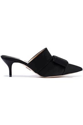 PAUL ANDREW Kosuth bow-embellished satin mules