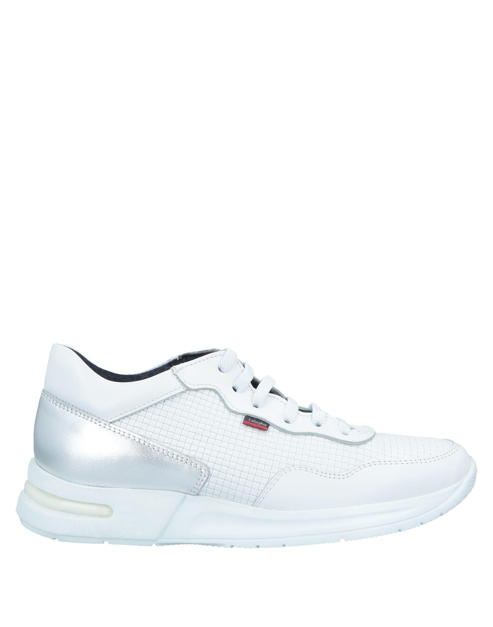《セール開催中》CALLAGHAN レディース スニーカー&テニスシューズ(ローカット) ホワイト 39 革