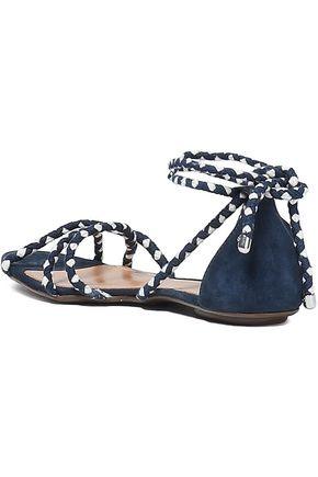 SCHUTZ Woven and suede sandals