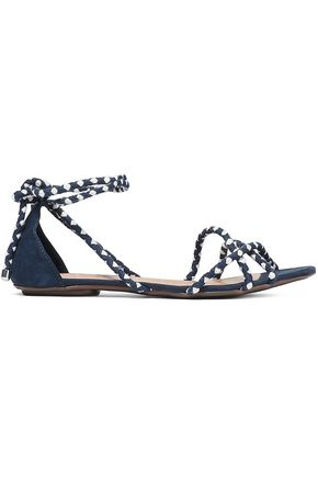 SCHUTZ Woven and suede sandals