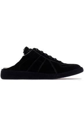 MAISON MARGIELA Replica velvet slip-on sneakers
