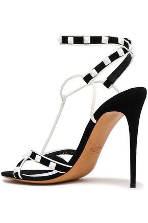 VALENTINO GARAVANI Rockstud leather and suede sandals