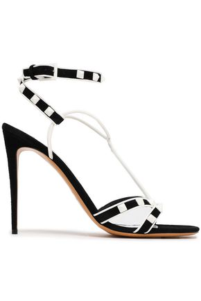 VALENTINO GARAVANI Rockstud leather and suede sandals