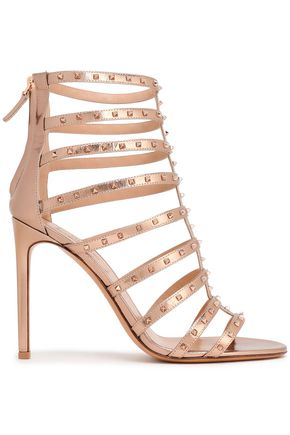 VALENTINO GARAVANI Studded metallic leather sandals