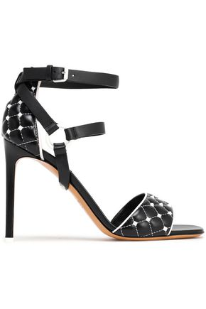 VALENTINO GARAVANI Studded quilted leather sandals