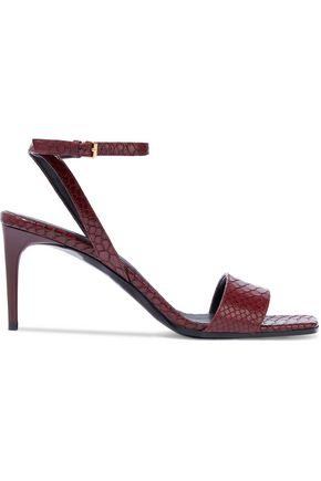 STELLA McCARTNEY Snake-effect faux leather sandals