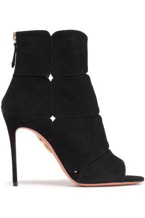 AQUAZZURA Lucrezia suede ankle boots