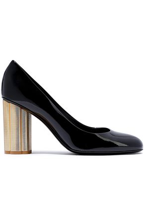 SALVATORE FERRAGAMO Lucca 85 patent-leather pumps
