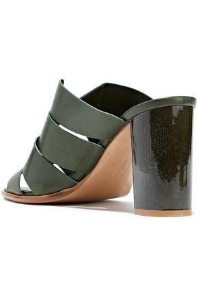 SALVATORE FERRAGAMO Evelina cutout leather mules