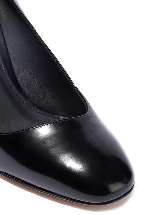 SALVATORE FERRAGAMO Glossed-leather pumps