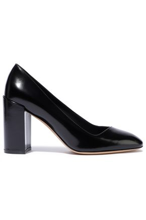 SALVATORE FERRAGAMO Glossed-leather pumps