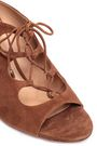 AQUAZZURA Lace-up suede mules