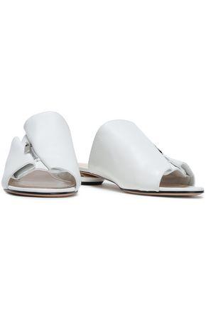 NICHOLAS KIRKWOOD Zip-embellished leather slippers