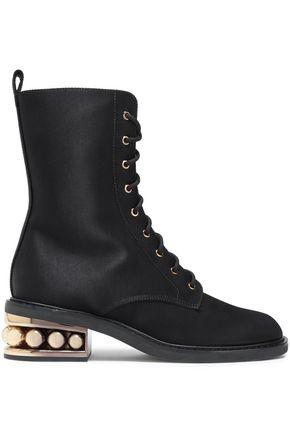 NICHOLAS KIRKWOOD Embellished twill ankle boots