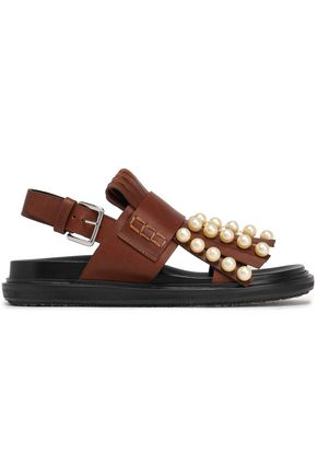 MARNI Embellished leather sandals