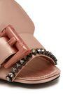 N°21 Crystal-embellished buckled satin mules