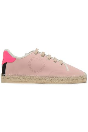 STELLA McCARTNEY Faux leather espadrille sneakers