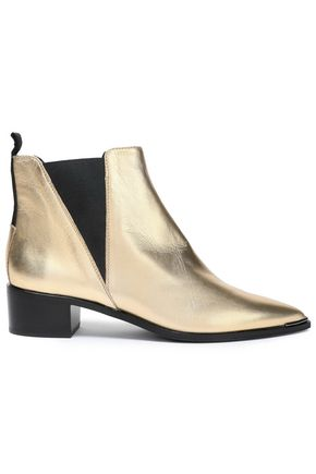 ACNE STUDIOS Metallic leather ankle boots